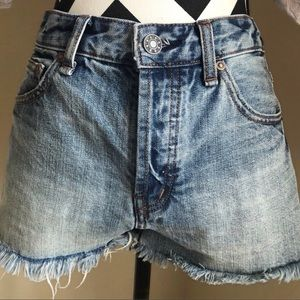 Free People Cutoff Jean Shorts 26